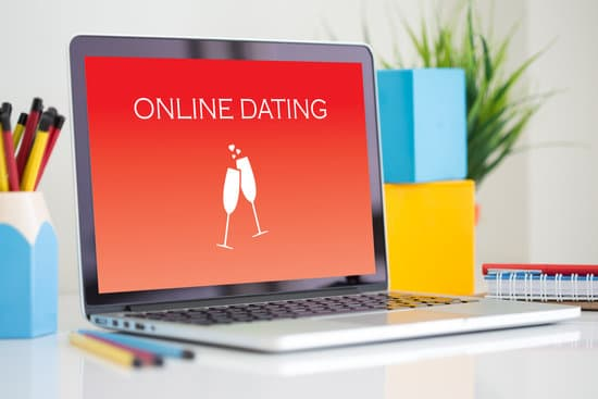 online dating site on computer